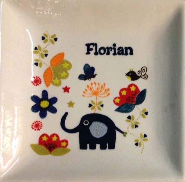 Vierkant bord geboorte Florian