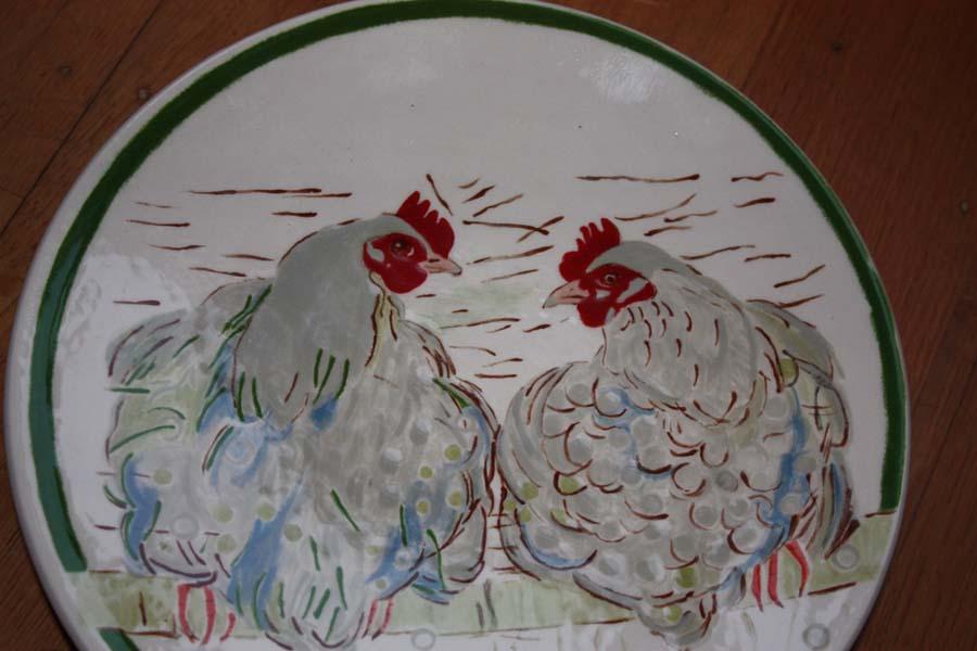 Ontbijtbord rond kip naar Loes Botman