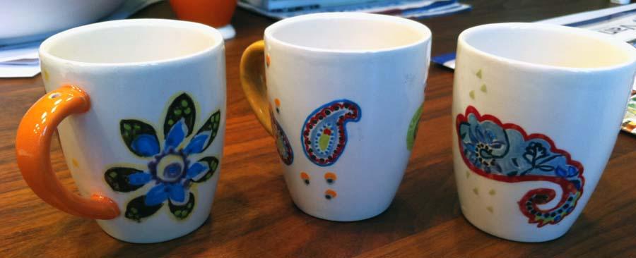 Koffiebekers Paisley met gat in oor