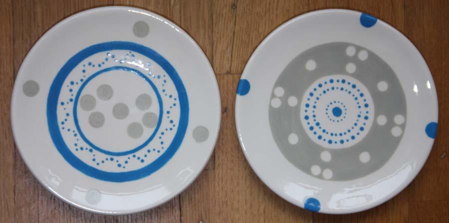 Ontbijtbordjes - nog meer stippen en cirkels