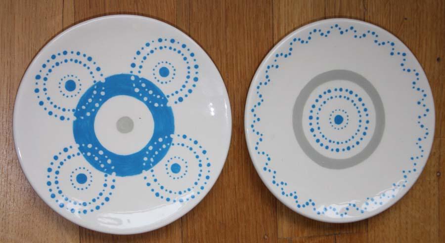 Ontbijtbordjes - stippen en cirkels